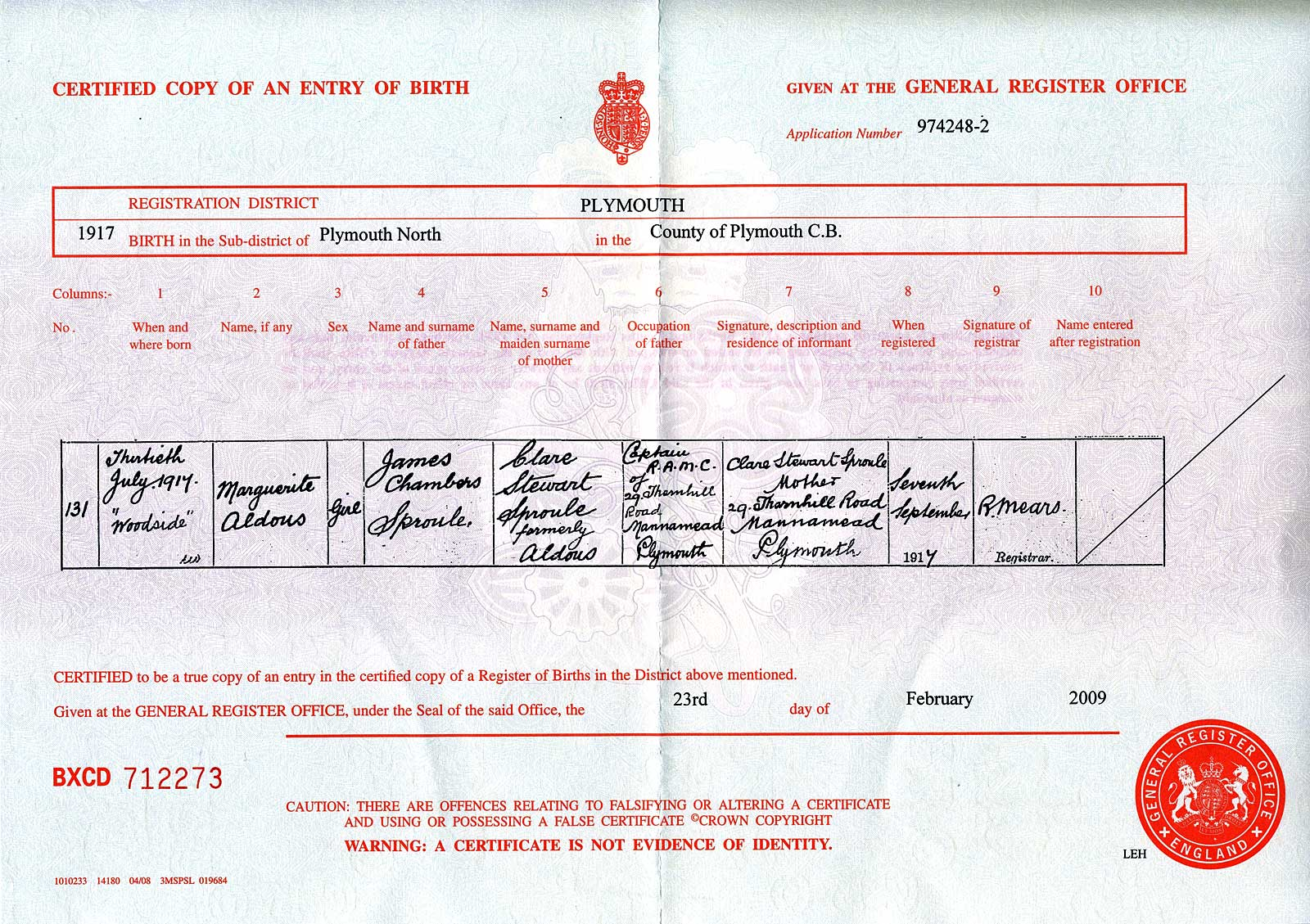 Ciaofamiglia birth marriage death places dates certificates 1917 plymouth devon aiddatafo Choice Image
